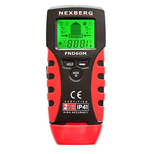 Detector de Pared NEXBERG FND60M Detector De Humedad Escáner De Pared Y Detector De Metales - Localizar Fácilmente Pernos De Pared, Metales, Tuberías Y Cables De Ca Activos